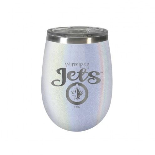 Winnipeg Jets 10 oz. Opal Blush Wine Tumbler