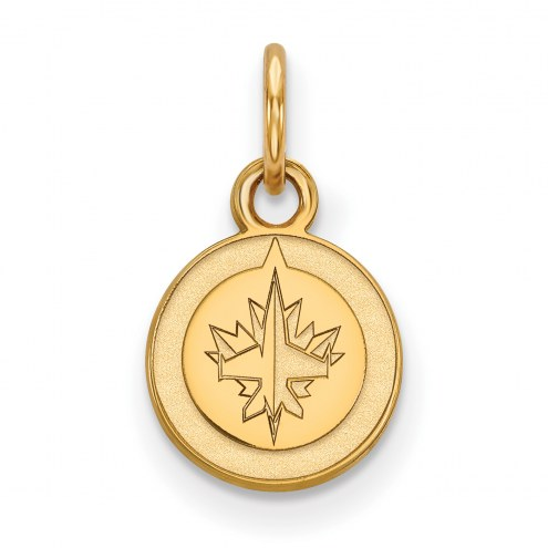 Winnipeg Jets 10k Yellow Gold Extra Small Pendant