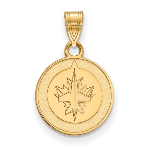 Winnipeg Jets 10k Yellow Gold Small Pendant