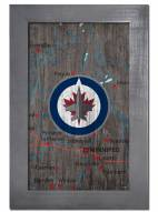 "Winnipeg Jets 11"" x 19"" City Map Framed Sign"