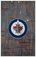 "Winnipeg Jets 11"" x 19"" City Map Sign"