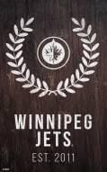 "Winnipeg Jets 11"" x 19"" Laurel Wreath Sign"
