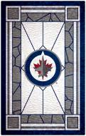 """Winnipeg Jets 11"""" x 19"""" Stained Glass Sign"""
