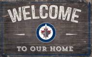 """Winnipeg Jets 11"""" x 19"""" Welcome to Our Home Sign"""