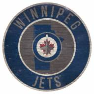 """Winnipeg Jets 12"""" Circle with State Sign"""