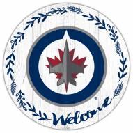 "Winnipeg Jets 12"" Welcome Circle Sign"