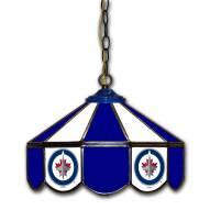 """Winnipeg Jets 14"""" Glass Pub Lamp"""