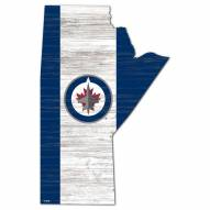 "Winnipeg Jets 15"" Flag Cutout Sign"