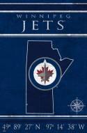 "Winnipeg Jets 17"" x 26"" Coordinates Sign"