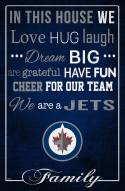 """Winnipeg Jets 17"""" x 26"""" In This House Sign"""