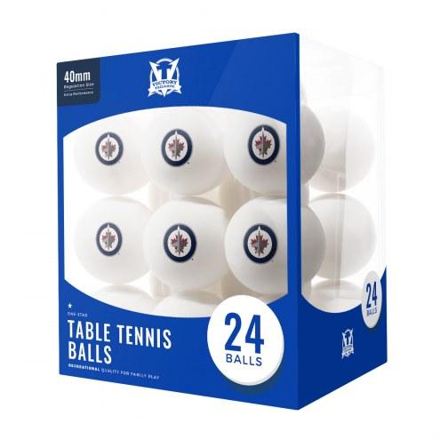 Winnipeg Jets 24 Count Ping Pong Balls
