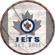 "Winnipeg Jets 24"" Flag Barrel Top"