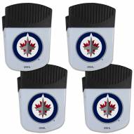 Winnipeg Jets 4 Pack Chip Clip Magnet with Bottle Opener