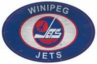 "Winnipeg Jets 46"" Heritage Logo Oval Sign"