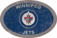 """Winnipeg Jets 46"""" Team Color Oval Sign"""