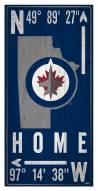 "Winnipeg Jets 6"" x 12"" Coordinates Sign"