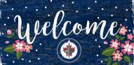 "Winnipeg Jets 6"" x 12"" Floral Welcome Sign"