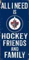 "Winnipeg Jets 6"" x 12"" Friends & Family Sign"