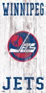 "Winnipeg Jets 6"" x 12"" Heritage Logo Sign"