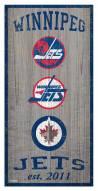 "Winnipeg Jets 6"" x 12"" Heritage Sign"