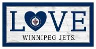 """Winnipeg Jets 6"""" x 12"""" Love Sign"""