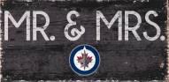 """Winnipeg Jets 6"""" x 12"""" Mr. & Mrs. Sign"""
