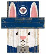 "Winnipeg Jets 6"" x 5"" Easter Bunny Head"