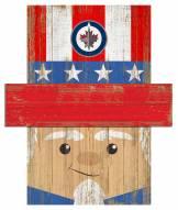 "Winnipeg Jets 6"" x 5"" Patriotic Head"