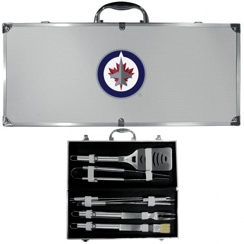 Winnipeg Jets 8 Piece Stainless Steel BBQ Set w/Metal Case