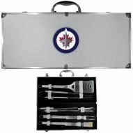 Winnipeg Jets 8 Piece Stainless Steel BBQ Set w/Metal Case