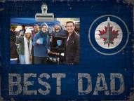 Winnipeg Jets Best Dad Clip Frame