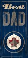 Winnipeg Jets Best Dad Sign