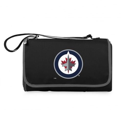 Winnipeg Jets Black Blanket Tote
