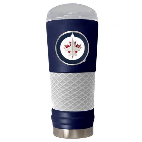 Winnipeg Jets Blue 24 oz. Powder Coated Draft Tumbler