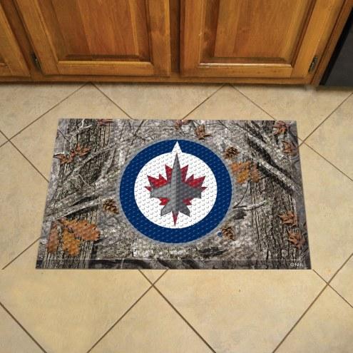 Winnipeg Jets Camo Scraper Door Mat