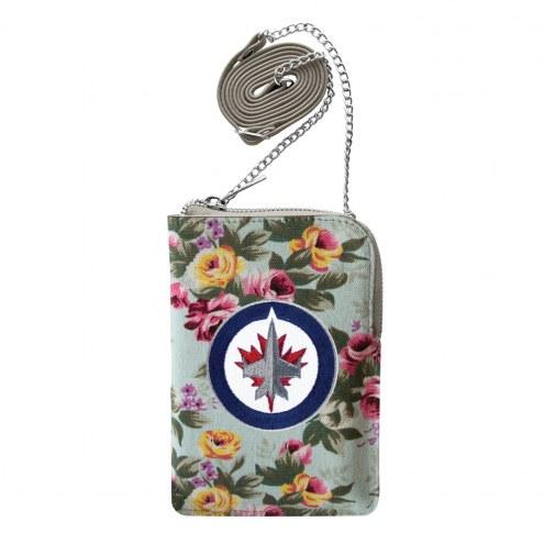 Winnipeg Jets Canvas Floral Smart Purse