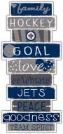 Winnipeg Jets Celebrations Stack Sign