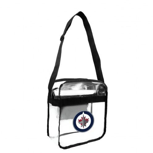Winnipeg Jets Clear Crossbody Carry-All Bag