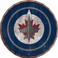 """Winnipeg Jets Cracked Color 24"""" Barrel Top"""