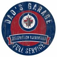 Winnipeg Jets Dad's Garage Sign