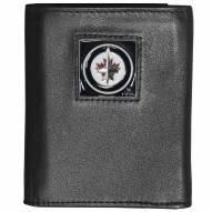 Winnipeg Jets Deluxe Leather Tri-fold Wallet