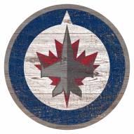 Winnipeg Jets Distressed Logo Cutout Sign