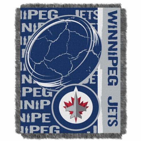 Winnipeg Jets Double Play Woven Throw Blanket