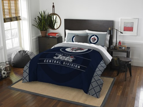 Winnipeg Jets Draft Full/Queen Comforter Set