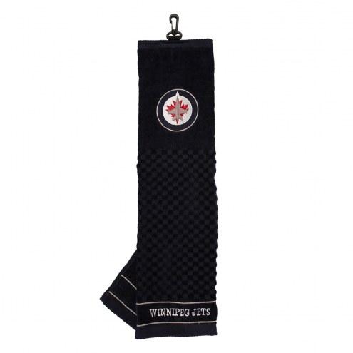Winnipeg Jets Embroidered Golf Towel