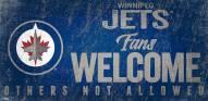 Winnipeg Jets Fans Welcome Sign