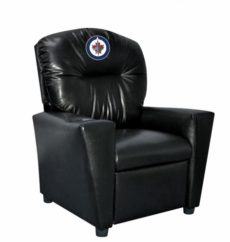 Winnipeg Jets Faux Leather Kid's Recliner