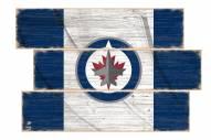 Winnipeg Jets Flag 3 Plank Sign