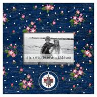 "Winnipeg Jets Floral 10"" x 10"" Picture Frame"