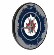 Winnipeg Jets Digitally Printed Wood Clock